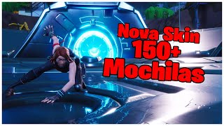 SHOWING THE * NEW * BLACK WIDOW SKIN & 150 + BACKPACKS | FORTNITE