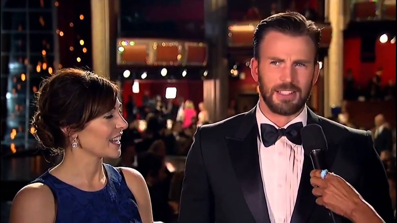 Oscars Interview Chris Evans 2015 Youtube
