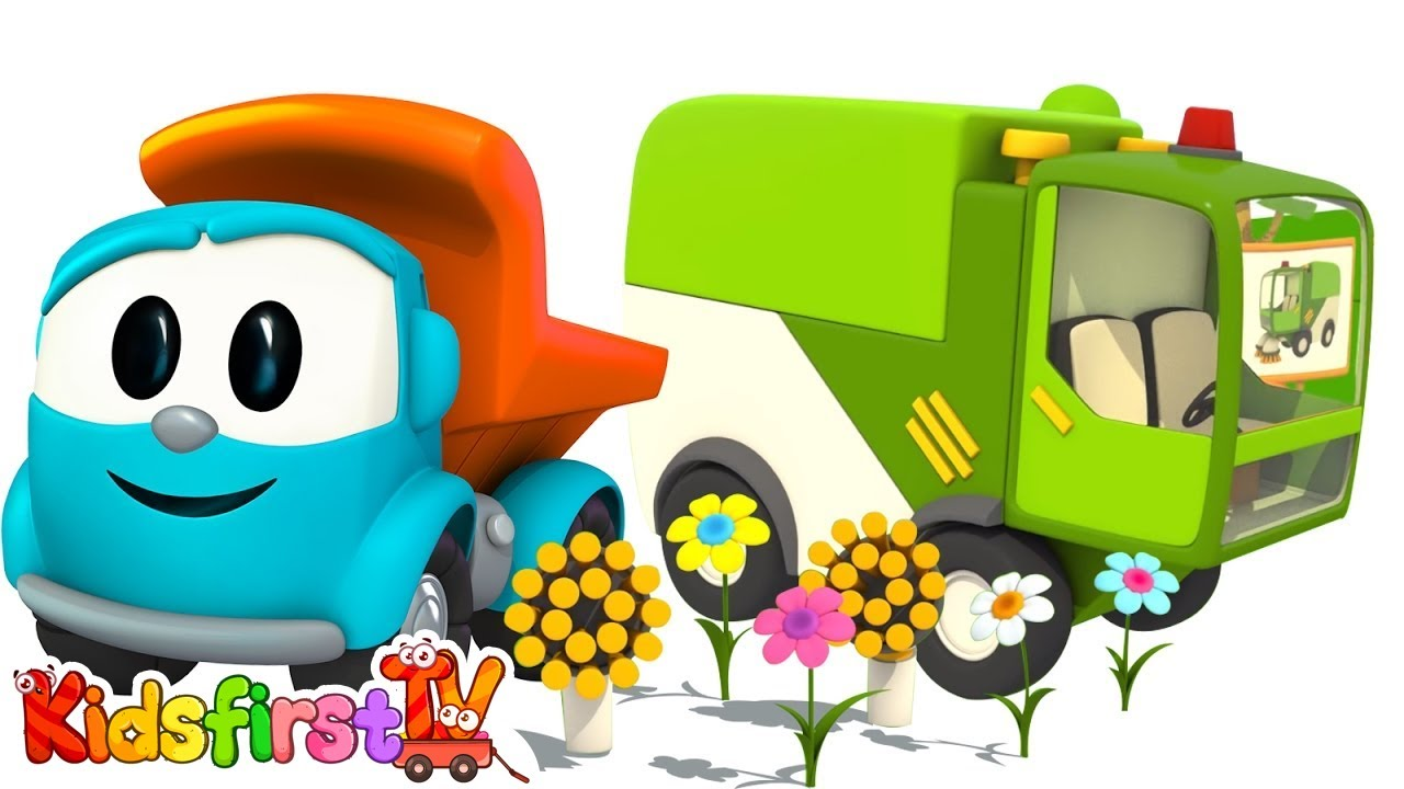Leo The Truck & Sweeper. Cartoons For Kids.