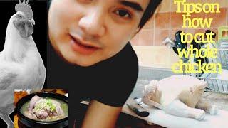 LIVE CHICKEN CUTTING FILIPINO STYLE   by chef Adam