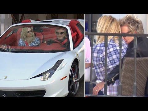 X17 EXCLUSIVE  Rod Stewart s PDA And $257K Ferrari In Beverly Hills