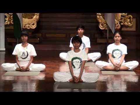 Yoga demonstration at Art Center