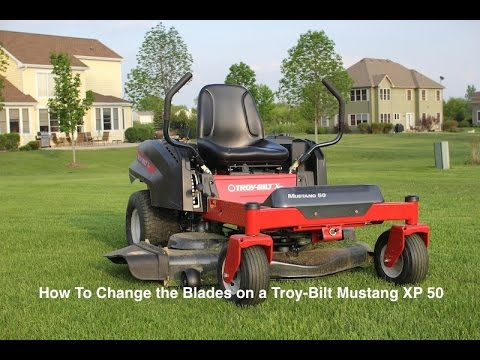How to Change Blades on Troy-Bilt XP Mustang 50