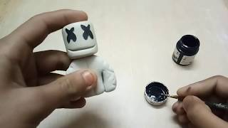 Marshmello - How to make a Marshmello sculpture in clay - Polymer clay/Epoxy clay/Plastilina