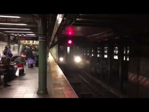 Brooklyn, New York - 4 Train Arrives at the Nevins Street Station HD (2016)