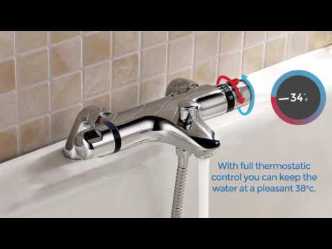 Thermostatic Bath Shower Mixer Taps at WillesdenBathrooms.co.uk