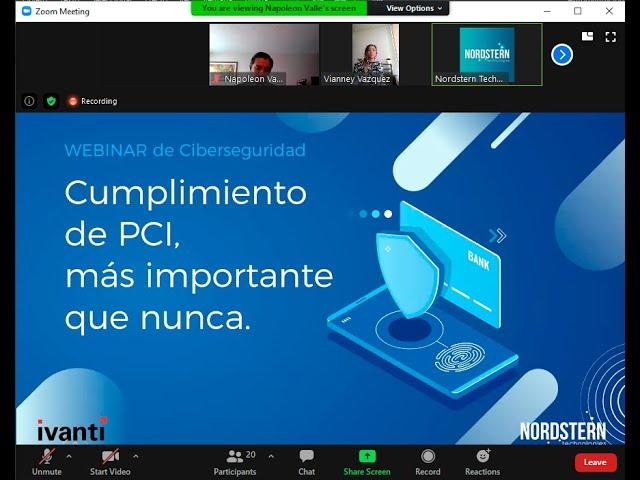 [Video] Webinar Cumplimiento de PCI, más importante que nunca.