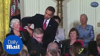 Barack Obama presents Stephen Hawking with Medal of Freedom - Daily Mail