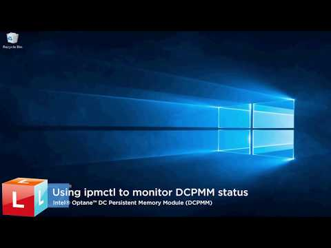 How to use ipmctl commands to monitor Intel® Optane™ DC