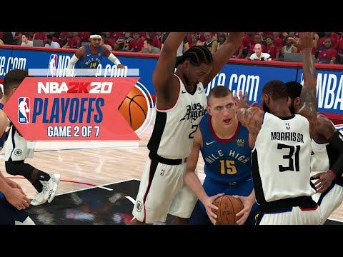 NBA 2020 Virtual Playoffs - Clippers Vs Nuggets Round 2 Game 2 - Los Angeles Vs Denver (NBA 2K)