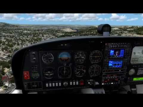 Alabeo Diamond DA40 from KCOE to KSFF with startup and shutdown