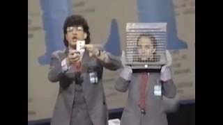 Young Penn and Teller perform the amazing magic rats trick