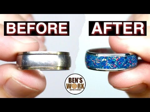 Turning Flea Market Jewelry into a Crushed Opal Ring