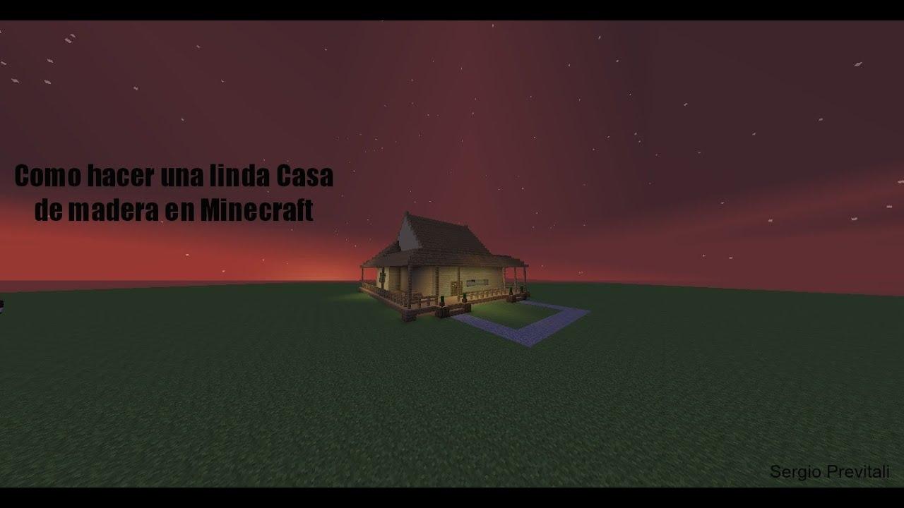 Minecraft como hacer una linda casa de madera parte 1 - Como hacer casa de madera ...