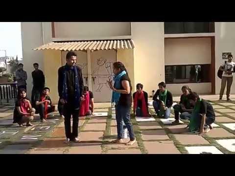 "nukkad natak on""Swachh Bharat Mission"" by KAILASH INSTITUTE"
