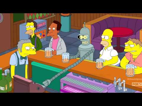 The Simpsons Meet Bender
