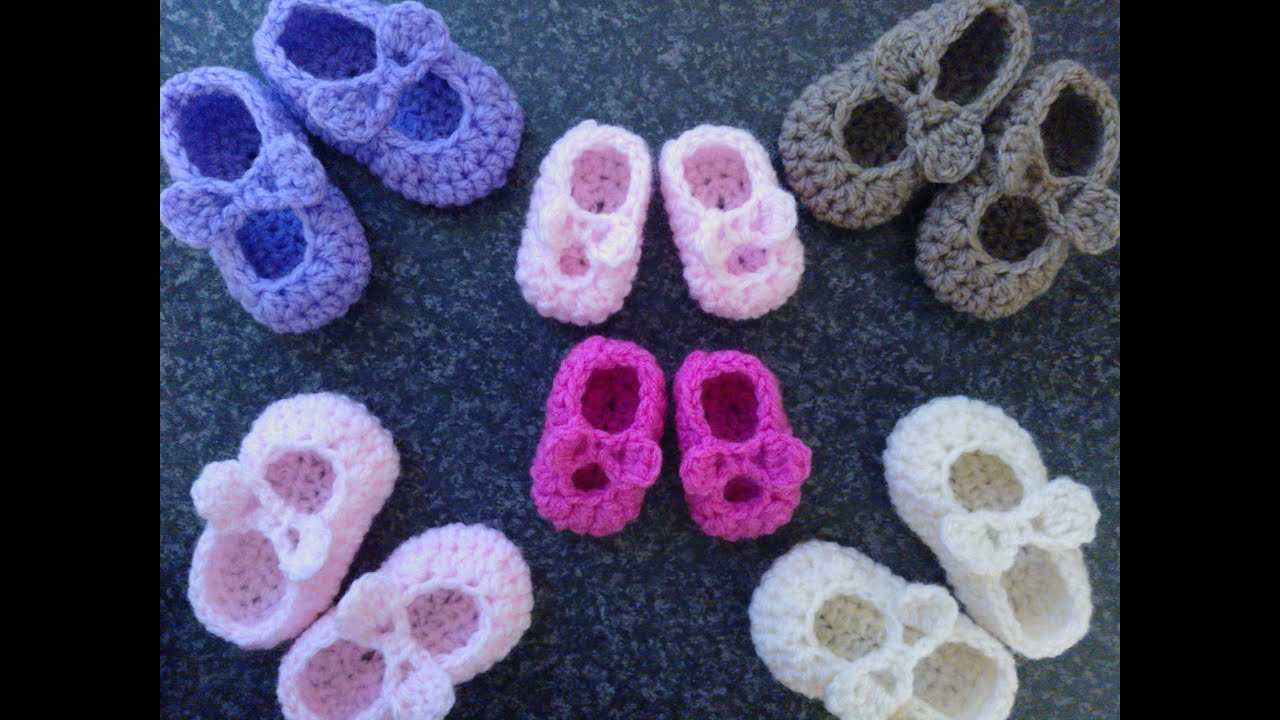 My Easy Crochet Premature Baby Mary Jane Ballerina Slipper With Bows ...