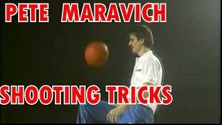 Pete Maravich Shooting Trick Basketball Shots