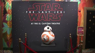 'Last Jedi' exhibition wows Hollywood