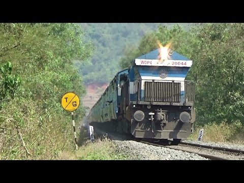 Why So Silent??? KONKAN RAILWAY : Train Crossing Tunnels and Bridge : Mandovi Express With KJM WDP-4