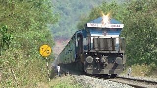Why So Silent??? KONKAN RAILWAY : Train Crossing Tunnels and Bridge : Mandovi Express With KJM WDP-4