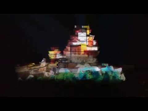 【4K】2015 Himeji Castle 3D Projection Mapping Show