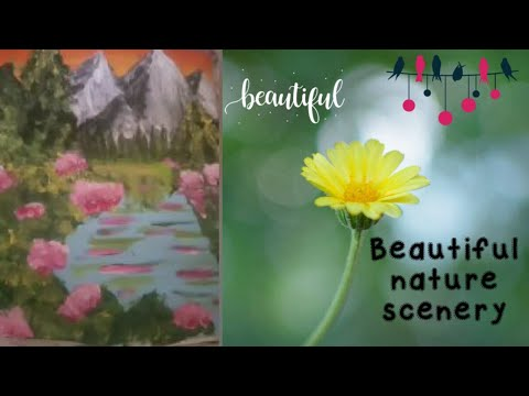 Easy landscape acrylic painting tutorial for beginners/ step by step