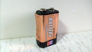 разборка батарейки крона 9V. (видеовопрос)
