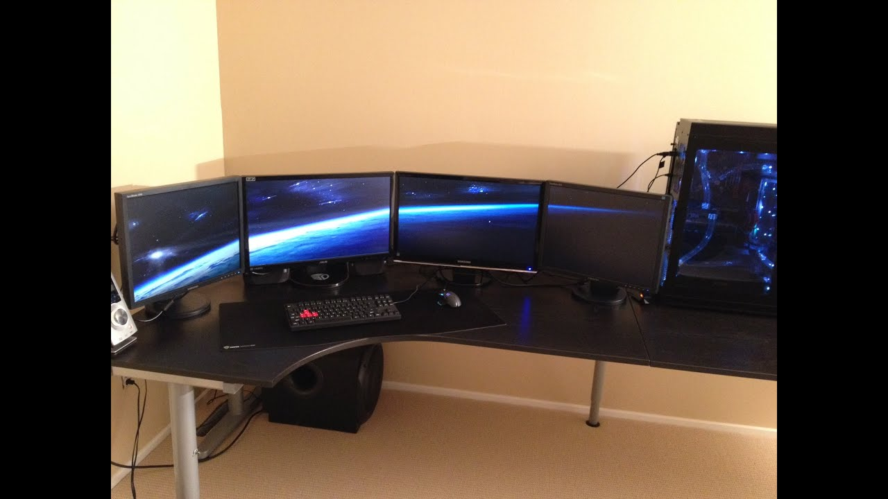 Pc Gaming Setup 2015 Multiple Monitors Enthoo Primo