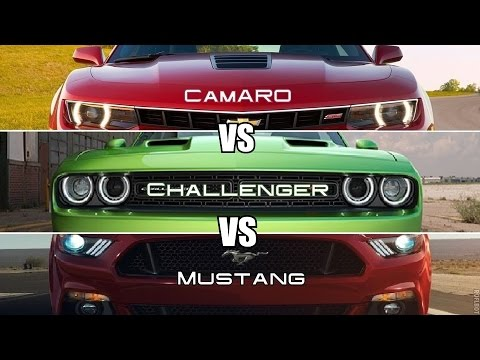 mustang vs camaro vs challenger youtube. Black Bedroom Furniture Sets. Home Design Ideas