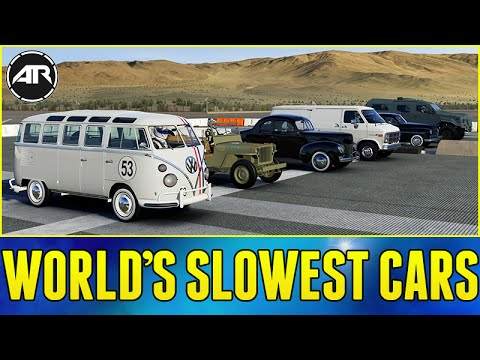 forza 6 online world 39 s worst drag race slowest cars. Black Bedroom Furniture Sets. Home Design Ideas