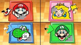 Mario Party The Top 100 MiniGames - Mario Vs Luigi Vs Peach Vs Yoshi (Master Difficulty)