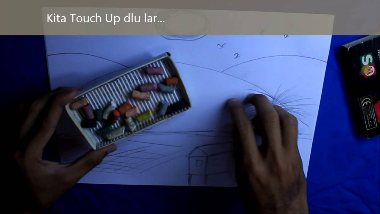 Cara Melukis Sawah Padi - YouTube