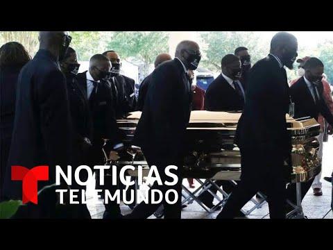 Miles de personas se unen en Houston para darle el último adiós a George Floyd | Noticias Telemundo