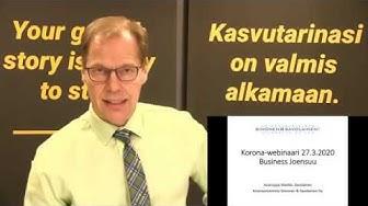 Korona-webinaari yrityksille, teemana kassan ja maksukyvyn turvaaminen