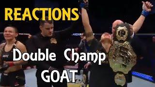 MMA Reacts to Amanda Nunes 51 Second KO Cris Cyborg to Become Champ Champ - UFC 232