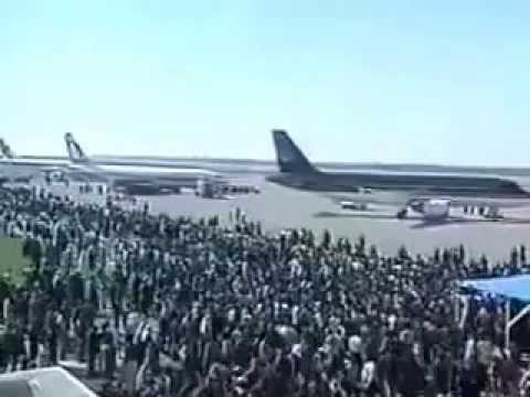 The opening of the Gaza International Airport 1998 افتتاح مطار غزة الدولي