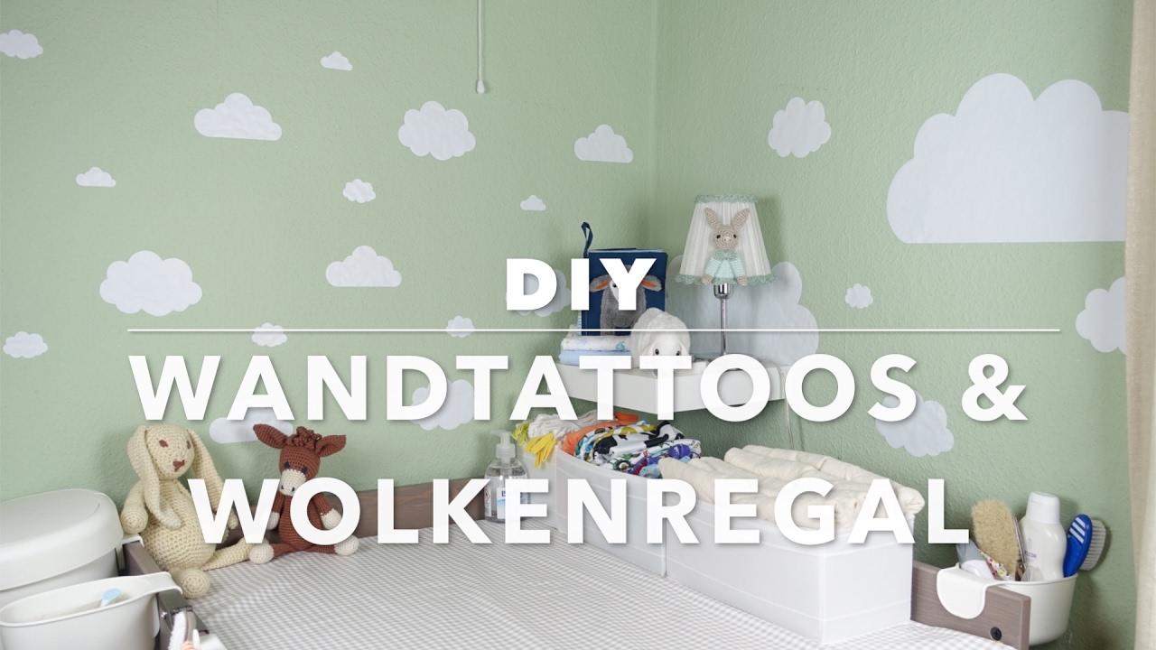 DIY Wandtattoos & Wolkenregal