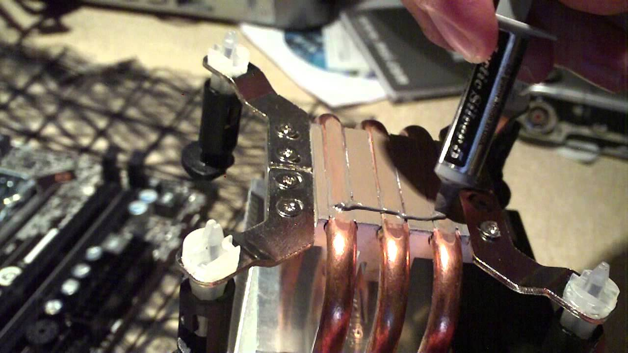 How To Install A Modern Intel Cpu Cooler With Push Pins Youtube