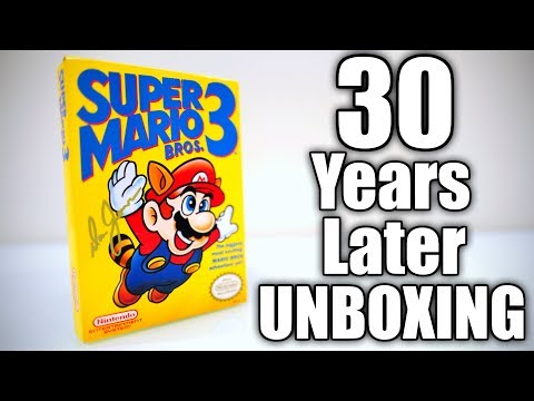 Super Mario Bros. 3 for NES - 30 Years Later UNBOXING