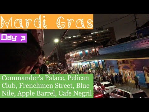 Mardi Gras 2018: Day 3 (Commander's Palace, Pelican Club, Frenchmen Street)