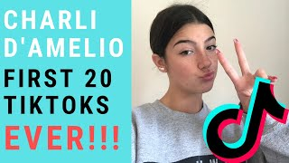 CHARLI D'AMELIO FIRST 20 ṪIKTOKS EVER! | Tik Tok Compilation