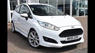Used Ford Fiesta 1.0 EcoBoost 125 Zetec S 3dr Frozen White 2015