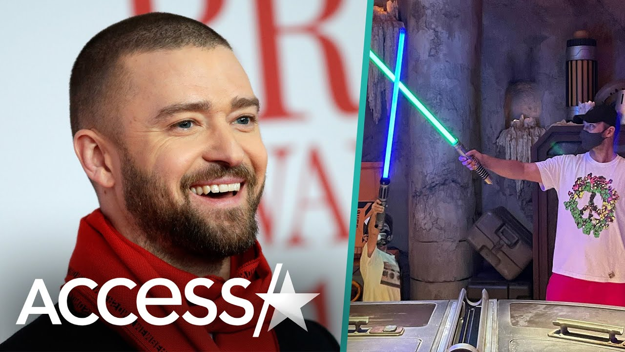 Justin Timberlake & Son Silas' Lightsaber Duel