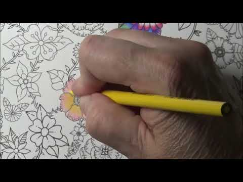 Flower Explosion - How to color a full page of nothing but flowers - Make money coloring.