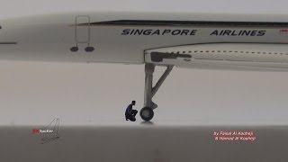 Concorde Aircraft Diecast Model Inspection
