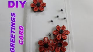 DIY PAPER ART AND CRAFT - HOW TO MAKE QUILLING GREETINGS CARD II SUMITA'S QUILLING ART
