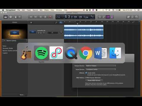 Loopback to record Spotify/YouTube into Garageband