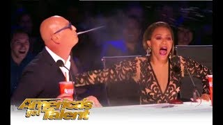 'AGT' Turns Into a SPIT FEST Between Mel B & Howie Mandel! | America's Got Talent 2018