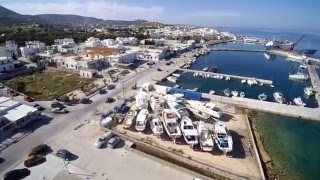 Paros Island - Aerial Video Typhoon Q 500 4K Yuneec(Paros Island Greece. Aerial cover starting from the port with the arrival of local ferry at Leivadia gulf, the beach in Paroikia and all the way to town hall along the ..., 2016-03-01T13:00:27.000Z)